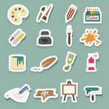 Art icons vector set. Illustration of art icons vector set Stock Images