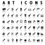 Art icons. On a white background with a shadow Stock Images