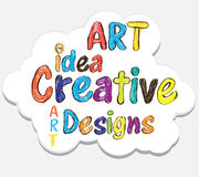 Art idea designs illustration concept Stock Images