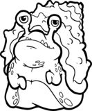 Art idiot de monstre de Halloween Livre de coloration illustration stock
