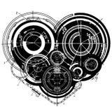 Art illustration of heart Stock Photo