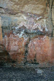 Art indigène de roche image libre de droits