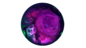 Art Ink Paint Explode Diffusion in Sphere stock video footage