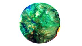 Art Ink Paint Explode Diffusion in Sphere stock footage
