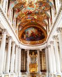 Art inside the Palace of Versailles. The most beautiful expression of architecture and art combined inside The Palace of Versailles , France Stock Photography