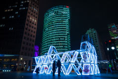 Art installation House of Cards on Potsdamer Platz Stock Photography