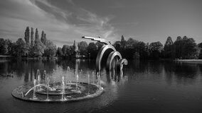 Art Installation In Black And White Stock Photos