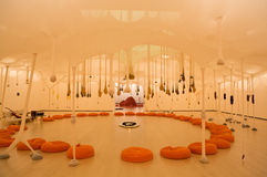 Art installation made of Ernesto Neto in Bilbao Stock Photo