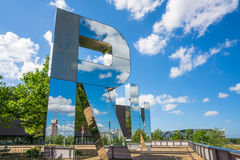 Art installation  by Monica Bonvicini's - RUN - in the Olympic Park, London UK Stock Images