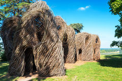 Art installation near the castle of Chaumont, France Stock Photography