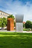 Art installation at the Prague park. Czech Republic. Royalty Free Stock Image