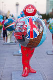 Art - installation, symbolizing countries of the world. Astana. Kazakhstan Stock Images