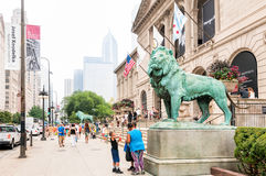 The Art Institute of Chicago. CHICAGO, UNITED STATES - AUGUST 23, 2014: The Art Institute of Chicago is an encyclopedic art museum located in Chicago's Grant Royalty Free Stock Image