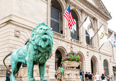 The Art Institute of Chicago. CHICAGO, UNITED STATES - AUGUST 23, 2014: The Art Institute of Chicago is an encyclopedic art museum located in Chicago's Grant stock photo
