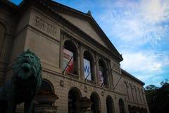 Art Institute van de bouw van Chicago, Illinois, de V.S. stock foto