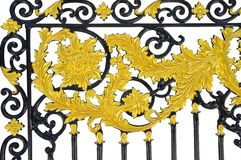Art of iron fence. Stock Photos