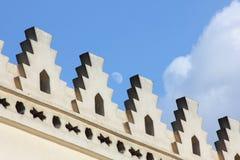 Art islamique avec la lune en Egypte photographie stock