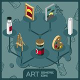 Art isometric concept icons. Vector illustration, EPS 10 Royalty Free Stock Image