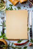 Art italian homemade menu food background Stock Photography
