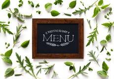 Art italian homemade menu food background Stock Photos