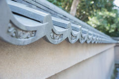The art japanese tile roof Royalty Free Stock Image