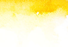 Art jaune abstrait d'aquarelle Photographie stock