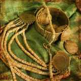 Art jewelry background. Artificial chain Stock Images