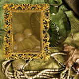 Art jewelry  background frame. Art jewelry fashion background frame Stock Images
