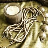 Art jewelry fashion background Stock Image
