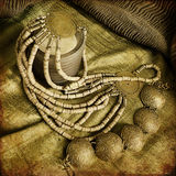 Art jewelry fashion background. Card Royalty Free Stock Photography
