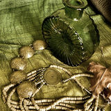 Art jewelry fashion background. Card Royalty Free Stock Photo