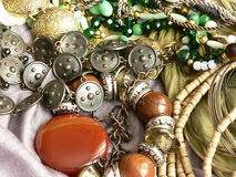Art jewelry fashion background Royalty Free Stock Images