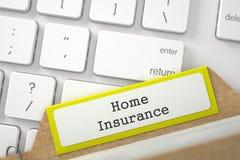 Art-Karteikarte mit Aufschrift-Hausversicherung 3d Lizenzfreies Stockfoto