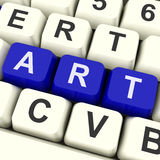Art Key Shows Drawing Or Painting Stock Photo
