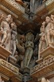 Art of Khajuraho, India Royalty Free Stock Images