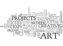 Art For Kid Word Cloud Photos stock
