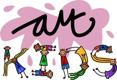 Art Kids Title Text Foto de archivo libre de regalías