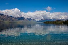 Art Lakeview Neuseeland stockfotografie