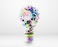 Art lamp. Consisting of gears and cogs Royalty Free Stock Photography