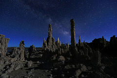 Art Landscape Image of the Tufas of Mono Lake Royalty Free Stock Image