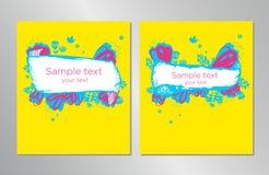 Art Layout pour le livre, identit? d'entreprise, calibre de vecteur de disposition de conception d'affiche d'insecte de couvertur illustration libre de droits