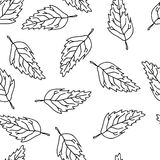 Art leafs. Seamless background with art leafs Royalty Free Stock Images