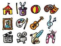 art & leisure icons stock photos
