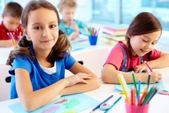 Art lesson Royalty Free Stock Photos