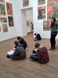 Art lesson in Tate Modern Royalty Free Stock Photo