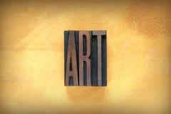 Art Letterpress imágenes de archivo libres de regalías