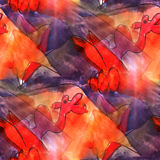 Art light background camel, red, purple barrel Stock Image