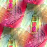 Art light background green, ball, red, texture watercolor. Art light background green, ball, red, light texture watercolor seamless abstract pattern paint Stock Photography