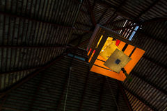 Art Light ljust orange tyg Arkivbilder