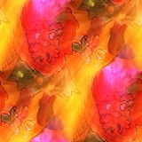 Art light orange, red, dwarf, cartoon background texture waterco. Lor seamless abstract pattern paint wallpaper color paper Stock Photos